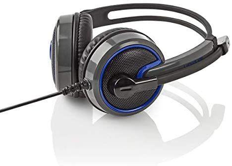 [Prime] NEDIS Gaming Headset (PC, Over Ear, 2x 3.5 mm Anschluss rot/grün, 2,20 m Kabellänge)