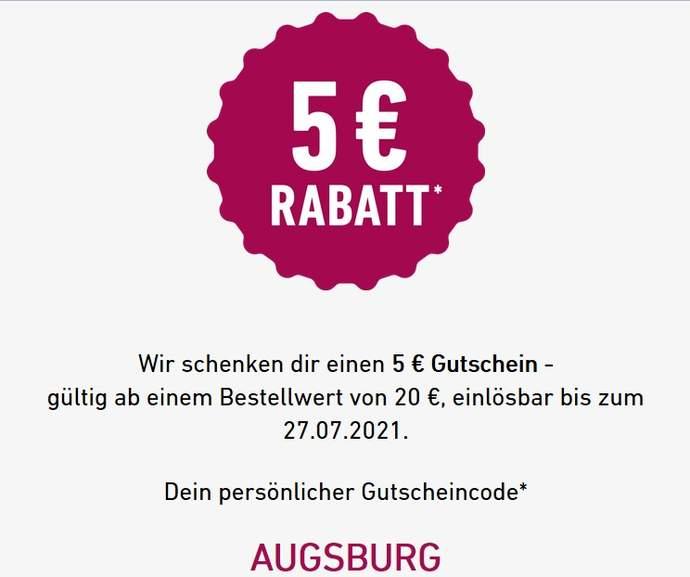 5€ Flaschenpost.de für Augsburg