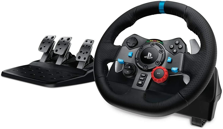 Logitech G29 - Driving Force Gaming Rennlenkrad, Leder-Lenkrad, Verstellbare Edelstahl Bodenpedale, für PS4, PC, Mac