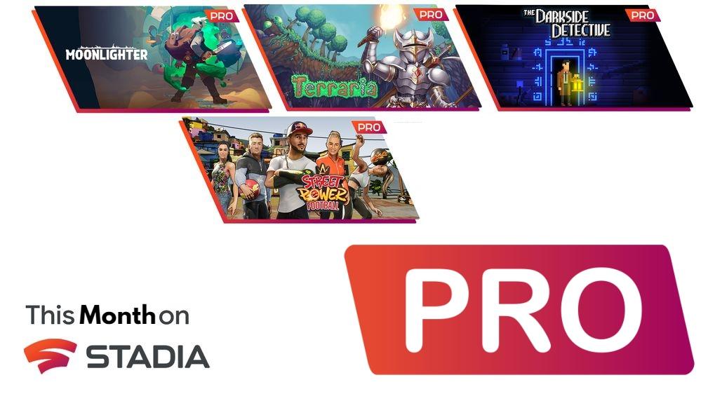 [Stadia Pro] kostenlos freischaltbare Spiele im Juli: Moonlighter, Street Power Football, Terraria und The Darkside Detective