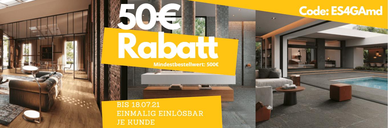50€ Rabatt beim Fliesenkauf bei Hodega (500€ Mbw)