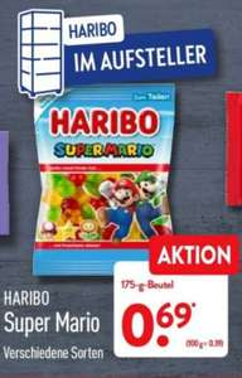 Haribo Super Mario 175 g Beutel verschiedene Sorten ab Freitag 09.07 Aldi Nord