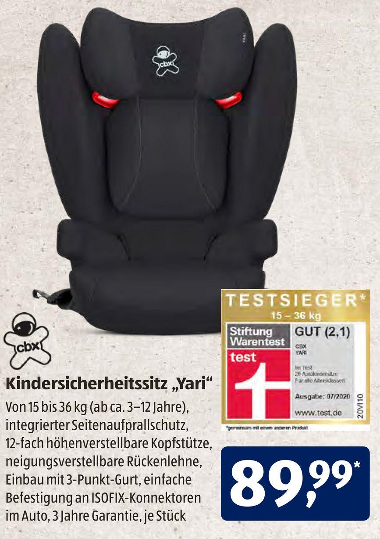 [Aldi Süd] CBX (Cybex) Yari Kindersitz 15-36 kg l Testsieger Stiftung Warentest
