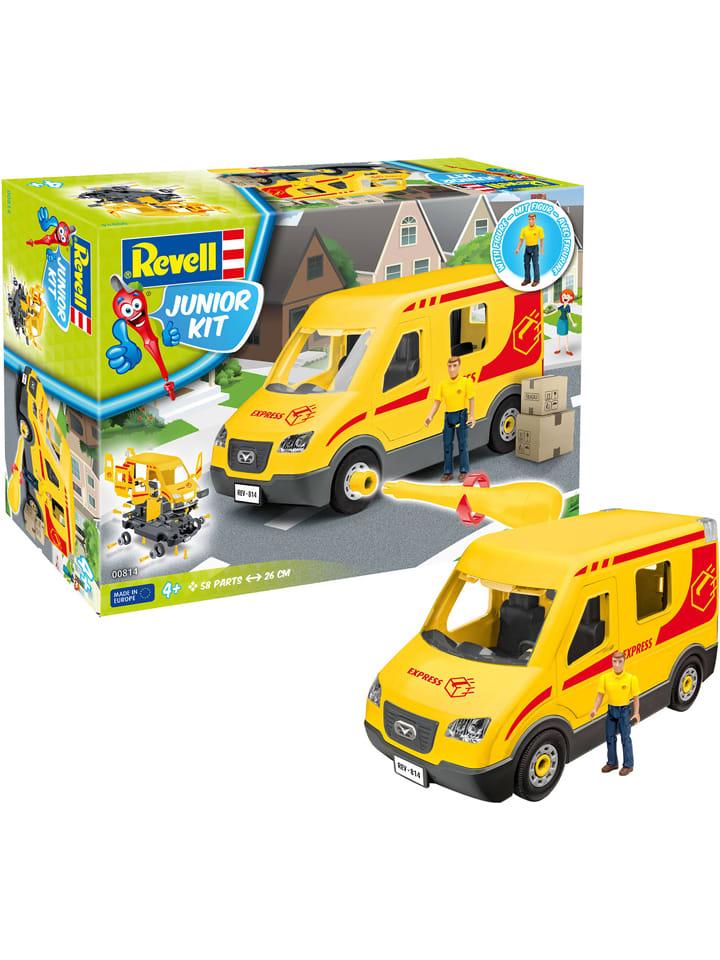 Revell, Junior Kit, Postauto mit Figur, Modellbausatz