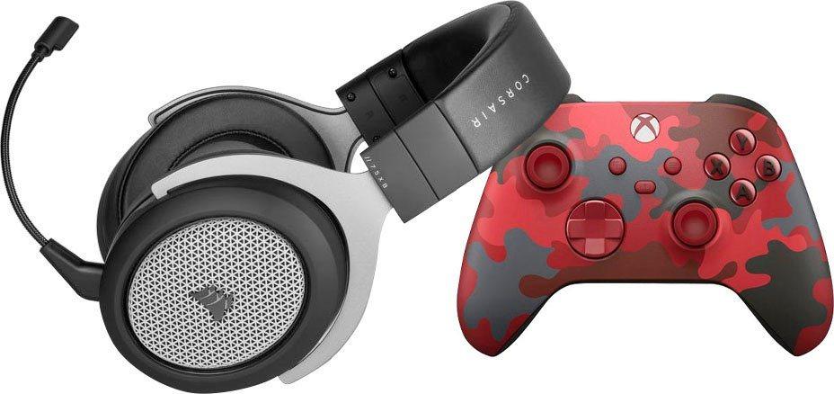 Corsair HS75 XB Wireless Gaming-Headset + Microsoft Xbox Wireless Controller - Daystrike Camo Special Edition