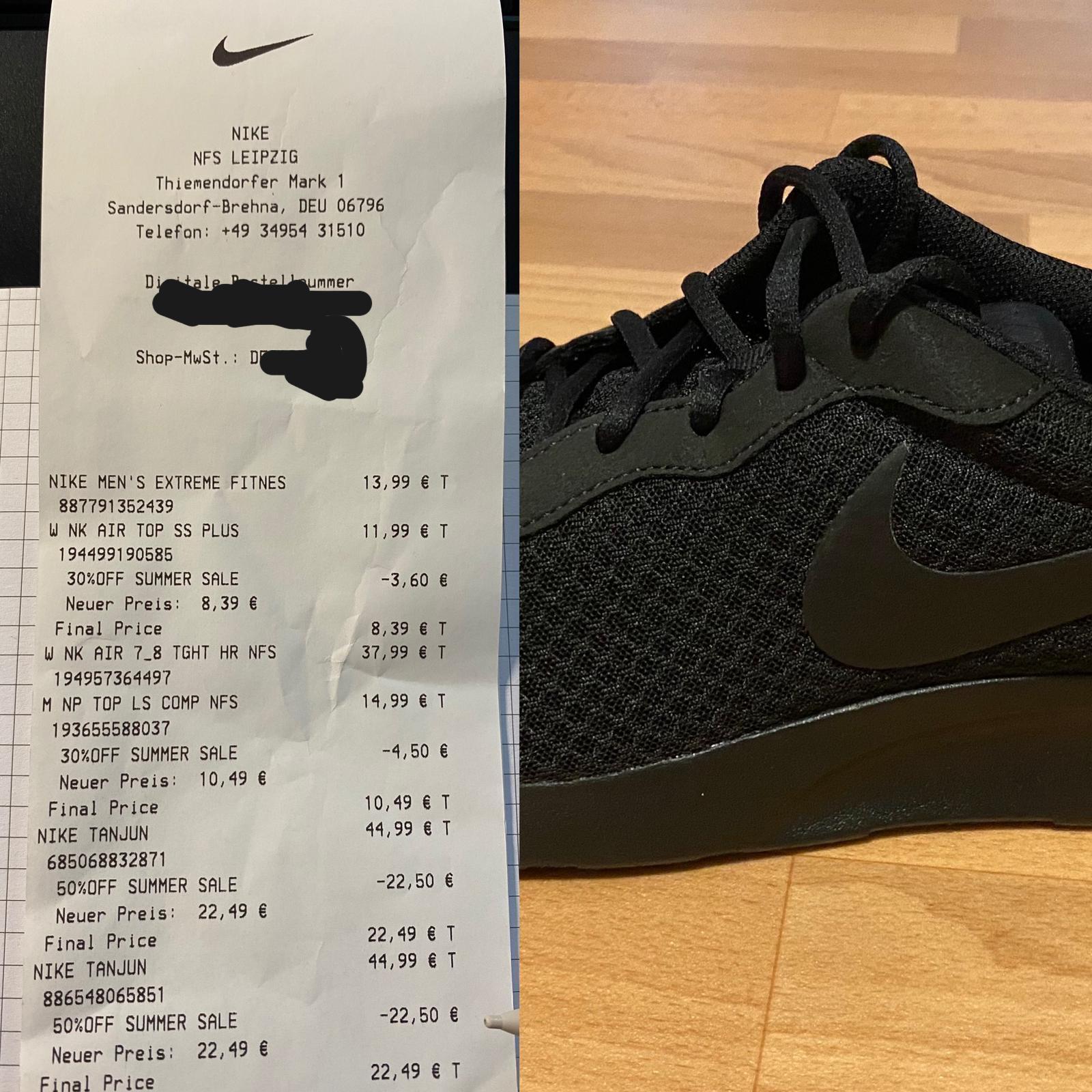 (Lokal Leipzig/Halle) Nike Outlet Brehna - Nike Tanjun schwarz/schwarz und grau/weiß