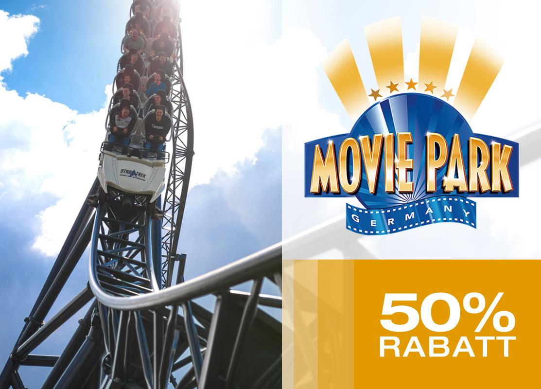 Tageskarte Movie Park zum halben Preis