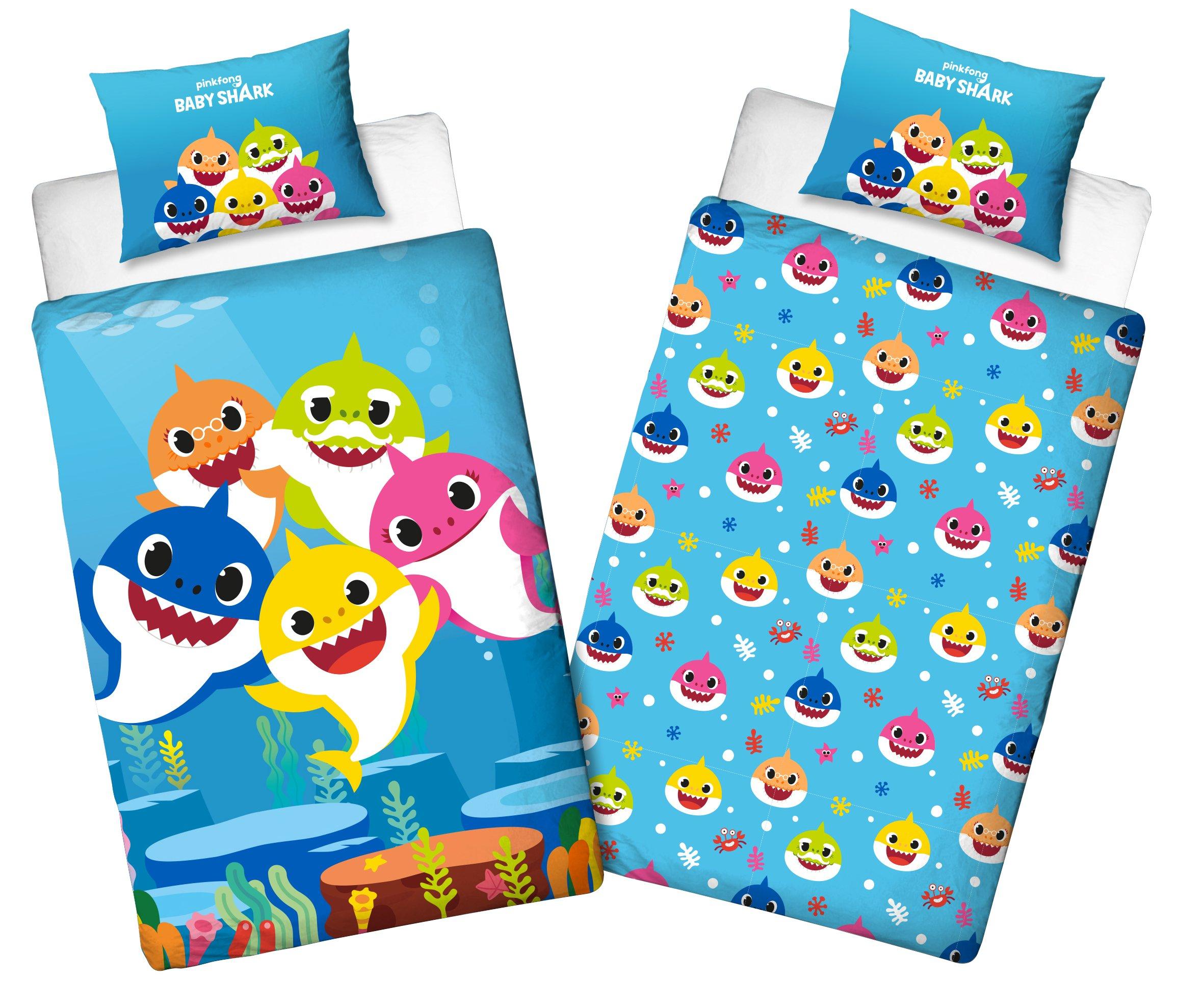 Bed Linen, Baby Shark, Junior Size Bettwäsche, Kinderbettwäsche