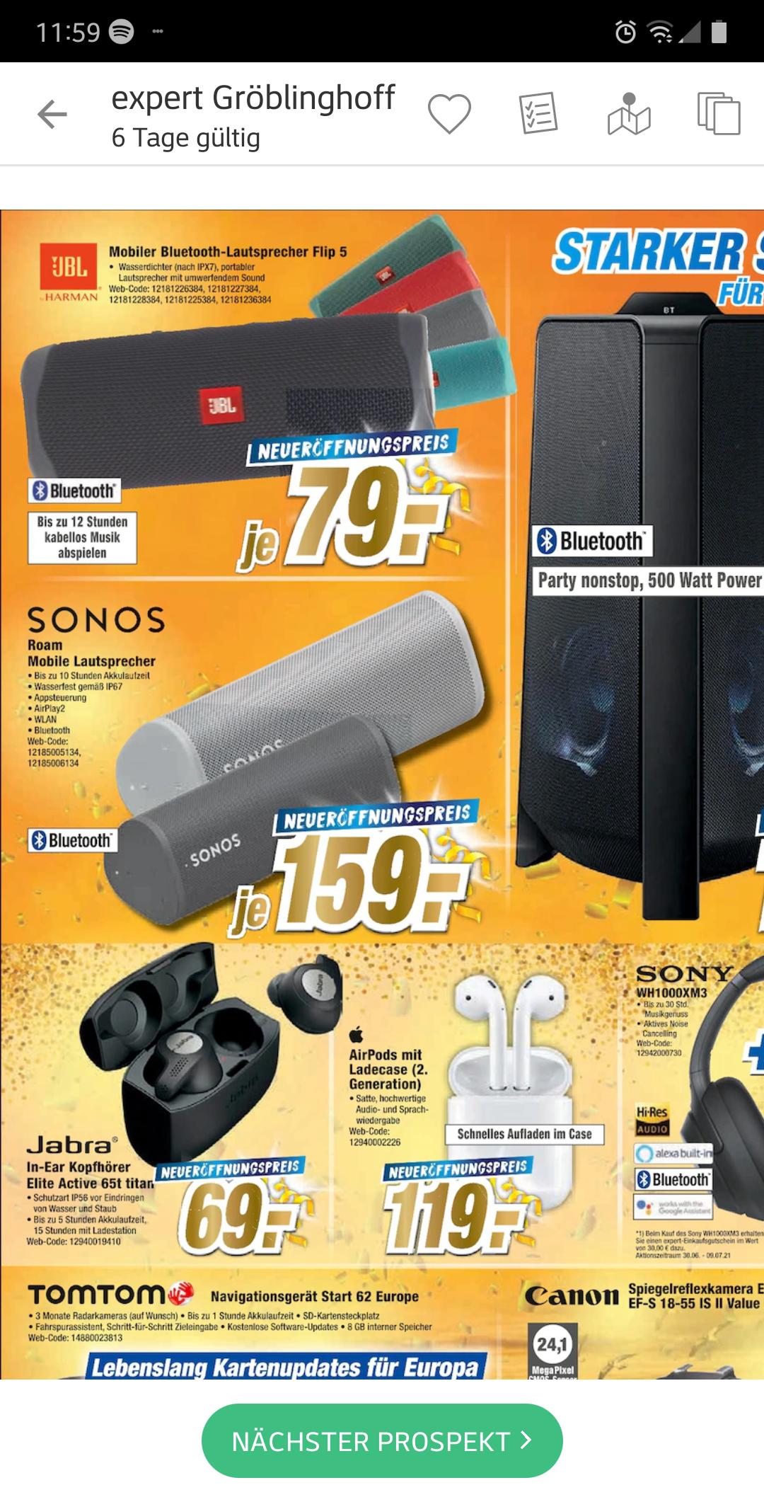 Sonos Roam bei Expert in Euskirchen (lokal) auch Online plus 3,99€ Versand