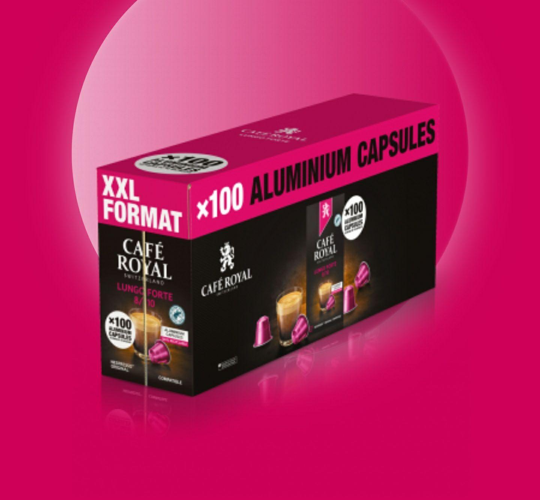 200 Kapseln Nespresso für 0,17€/Stk - Aluminium - Arabica - Café Royal Lungo (Forte)