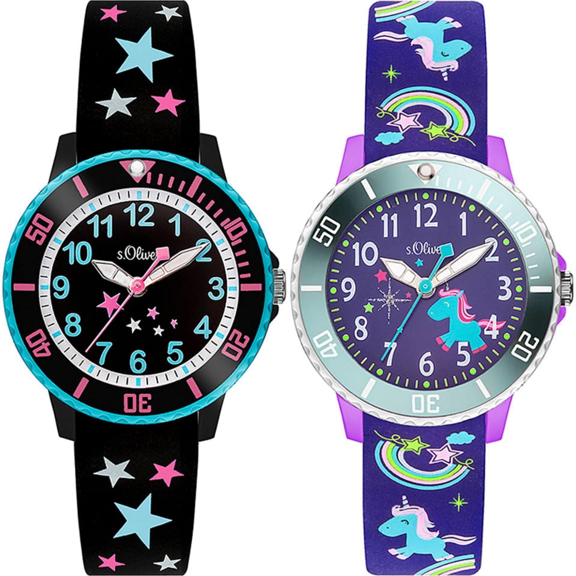 S.Oliver, Kinder Analog Quarz Armbanduhr mit Silikonarmband (Sammeldeal)