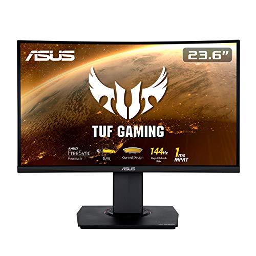 ASUS TUF Gaming VG24VQ 60 cm (23,6 Zoll) Curved Monitor (Full HD, 144Hz,FreeSync)