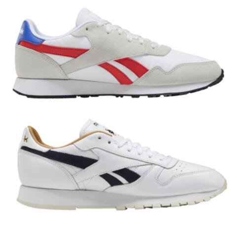 Reebok-Sale, zB: CL Leather MU Sneakers Herren (Bild oben - Größen 40,5 bis 46)