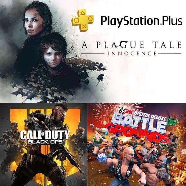 PS Plus Juli 2021 - A Plague Tale: Innocence PS5   CoD Black Ops 4 PS4   WWE 2K Battlegrounds PS4   Virtua Fighter 5 Ultimate Showdown PS4