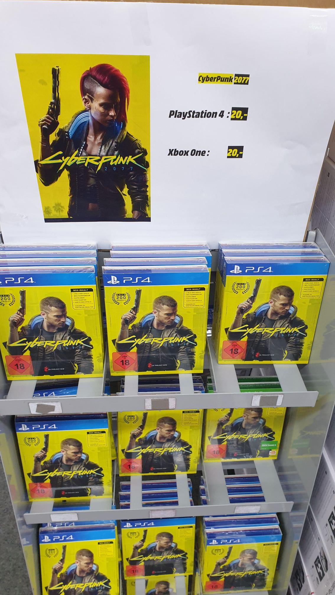 Cyberpunk 2077 Day 1 PS4 XBox Media Markt Lokal Wuppertal