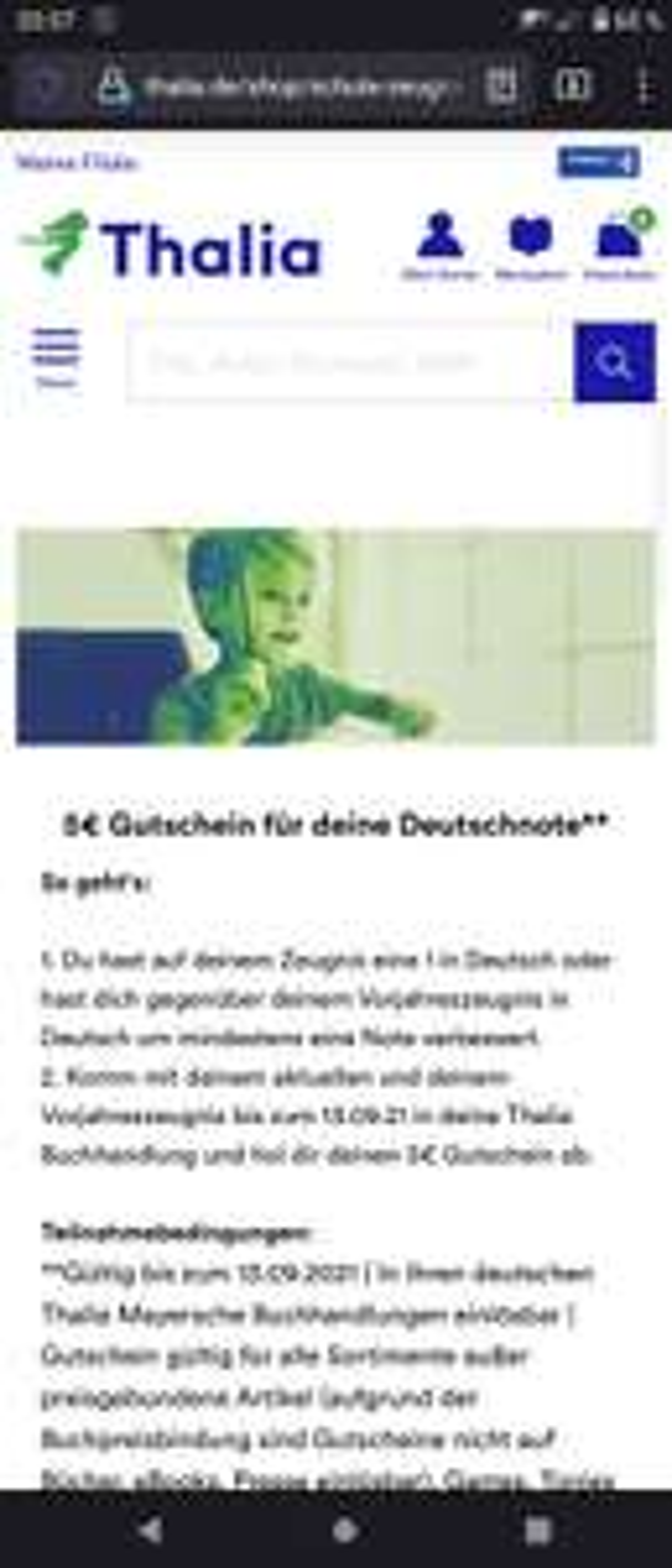 5€ Gutschein für deine Deutschnote**