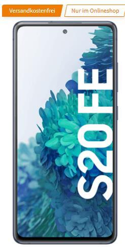 Vodafone Netz: Samsung Galaxy S20 FE (Exynos) 256GB cloud navy 4G im MD green LTE 10GB für 26,99€ monatlich, 29€ einmalig