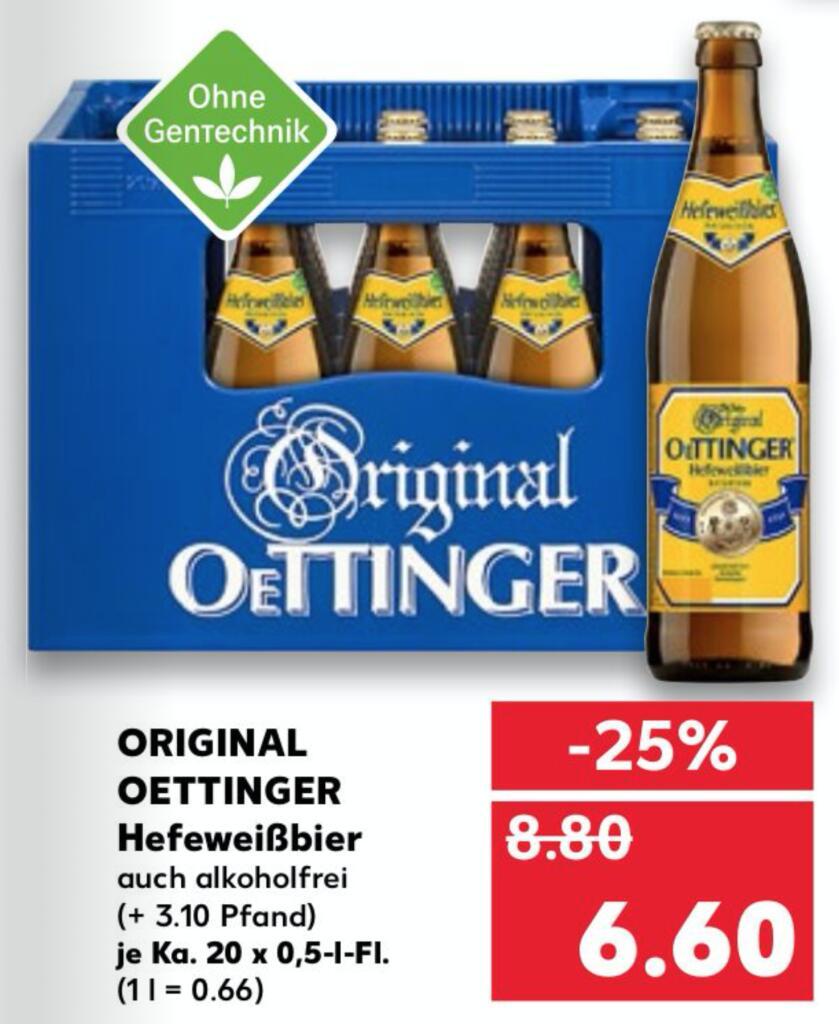 [KAUFLAND] Oettinger Hefeweißbier (20 x 0,5l)