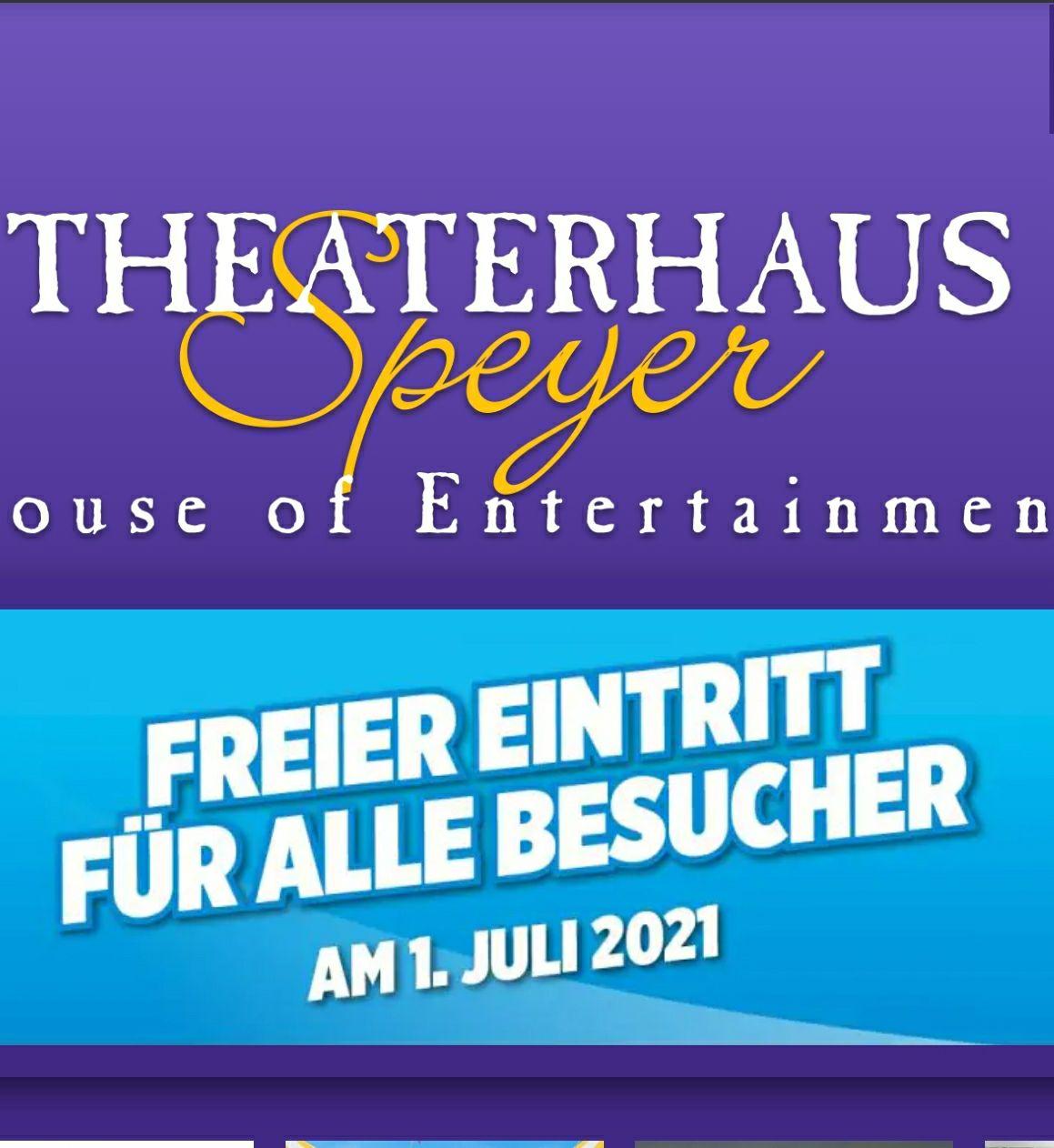 Freier Eintritt am 1.Juli wegen Wiedereröffnung im Kino Theaterhaus Speyer. (Lokal)