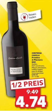 Contessa Carola Primitivo di Manduria DOC - 0,75l Flasche [Kaufland]