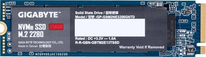 GIGABYTE NVMe SSD 256GB (M.2, PCIe 3.0, 3D-NAND TLC, R1700, W1100, 5J Garantie) [Vorbestellung]