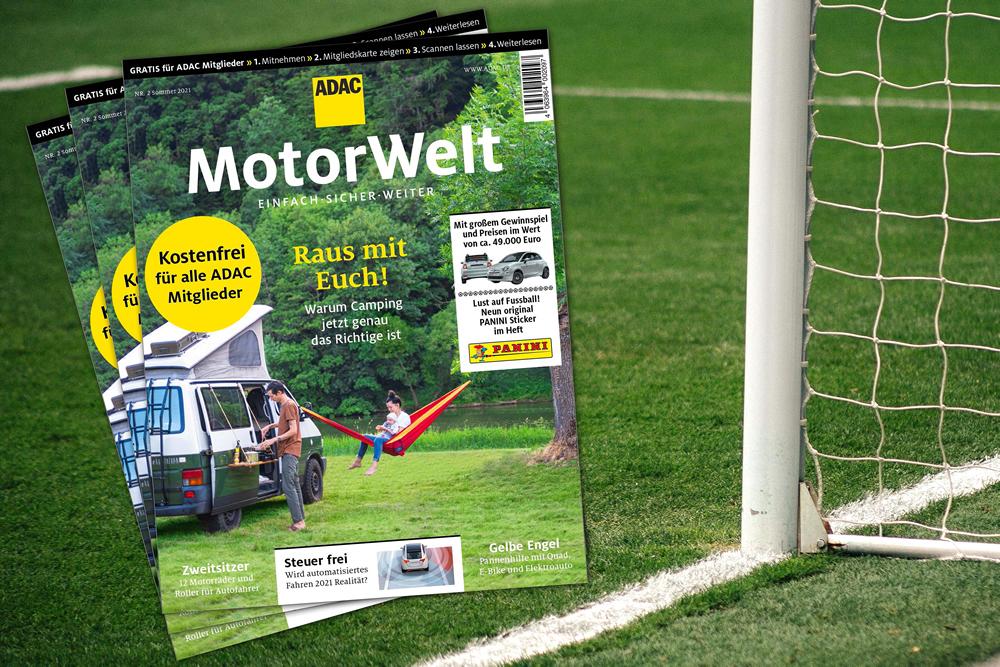 Panini/ ADAC Motorwelt personalisiert: Stickerbogen gratis UEFA EM2020 mit 9 Einzelbildern in jeder akt.ADAC Motorwelt im Netto und EDEKA