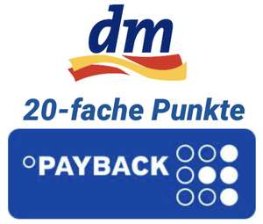 Neuer Coupon: 20-fach Payback Punkte bei dm - auf den Einkauf im Markt - Gültig bis 25.07.