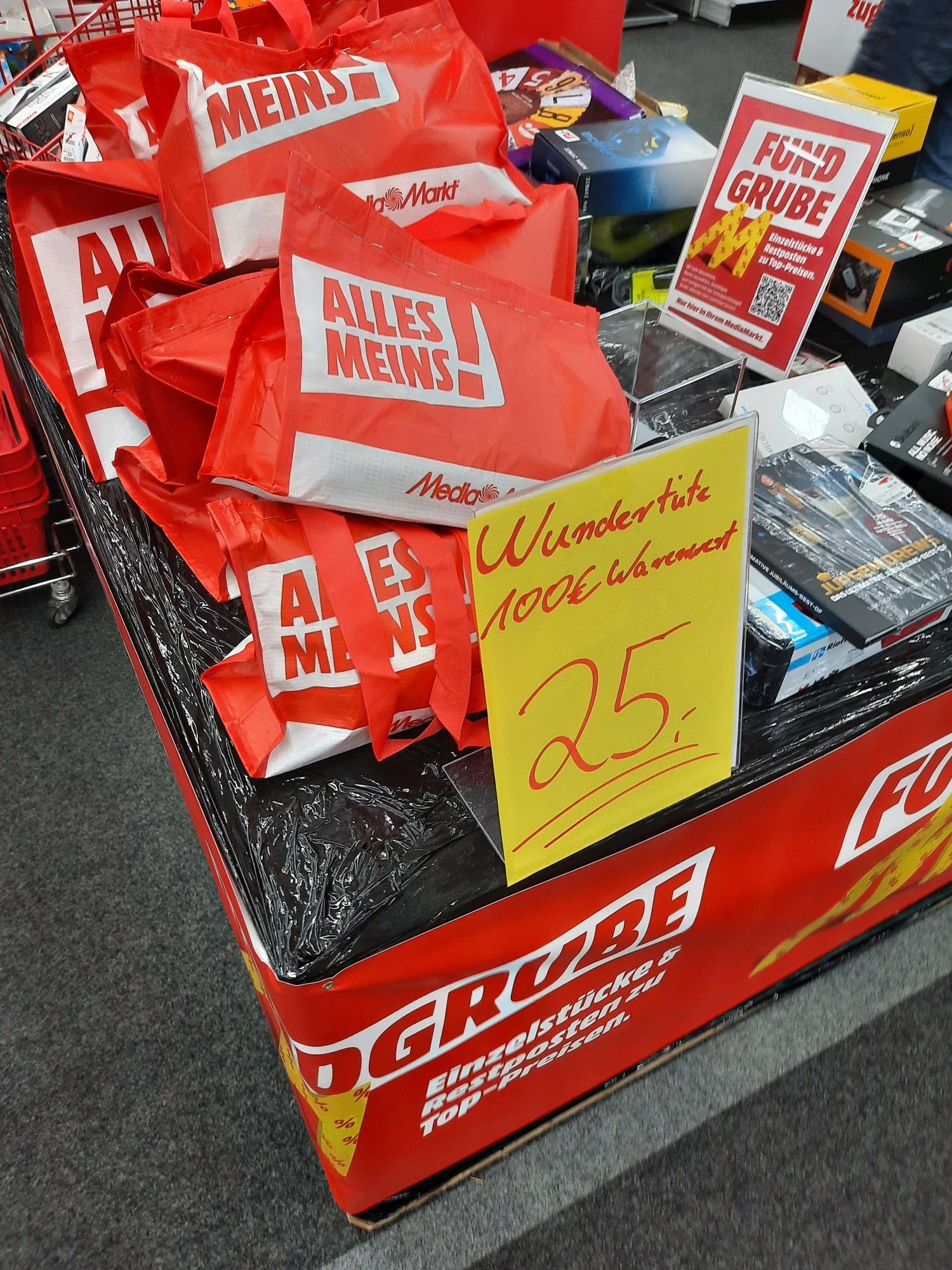 """[Evtl lokal Bielefeld] Media Markt - """"Wundertüte"""" für 25€ (Warenwert 100€)"""