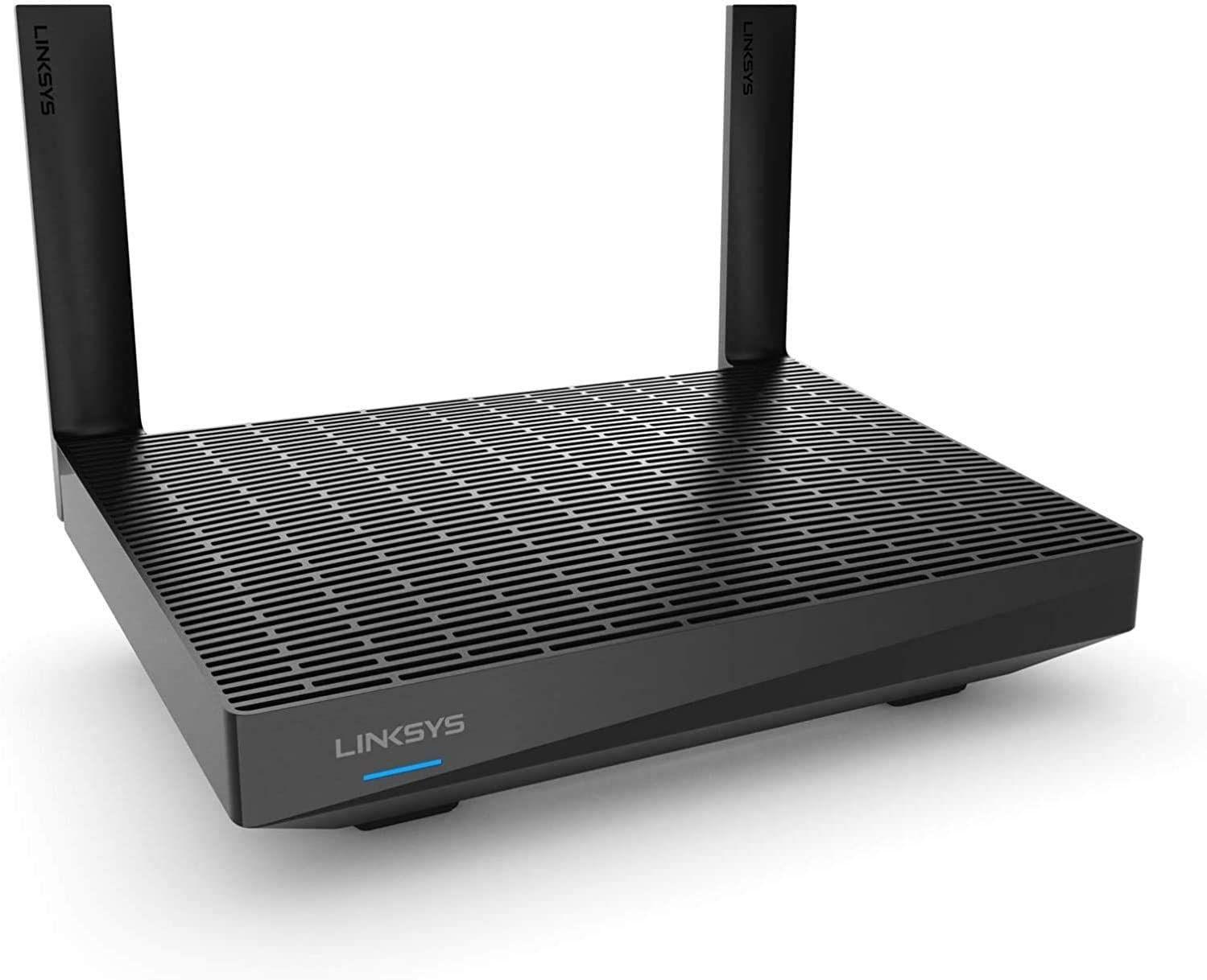 Linksys MR7350 Dual-Band Mesh-WLAN WiFi 6-Router (AX1800, bis 150 m², 1,8 Gbit/s, Velop WLAN-System, Kinderschutzfunktionen per Linksys App)