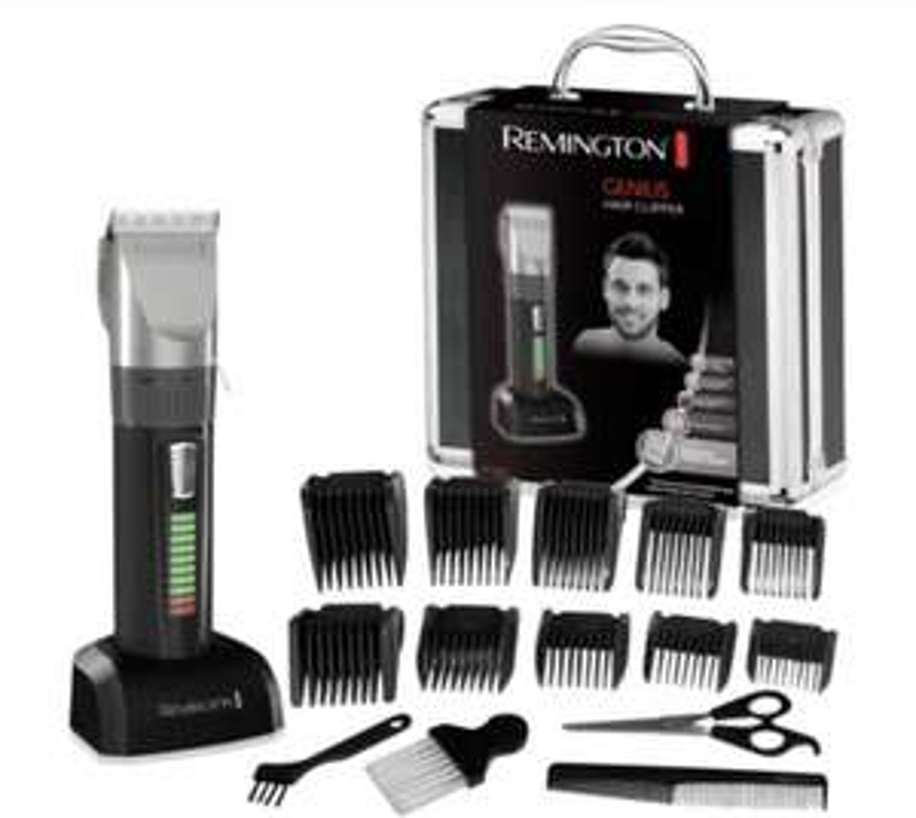 Remington HC5810 Genius Haarschneider, Bartschneider Schwarz, Grau + Füllartikel z.B. Wera Kapselöffner für 34,43€