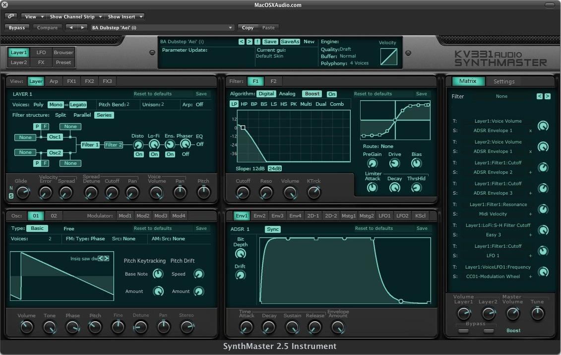 VST KV331 Audio SynthMaster 2.9 Synthesizer