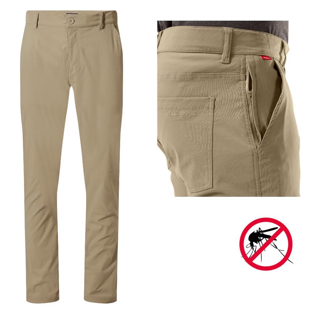 Craghoppers - NosiLife Santos Hose Herren mit Insekten- und UV-Schutz (normale Länge: nur noch Größe S / Langgröße: XS bis XL)