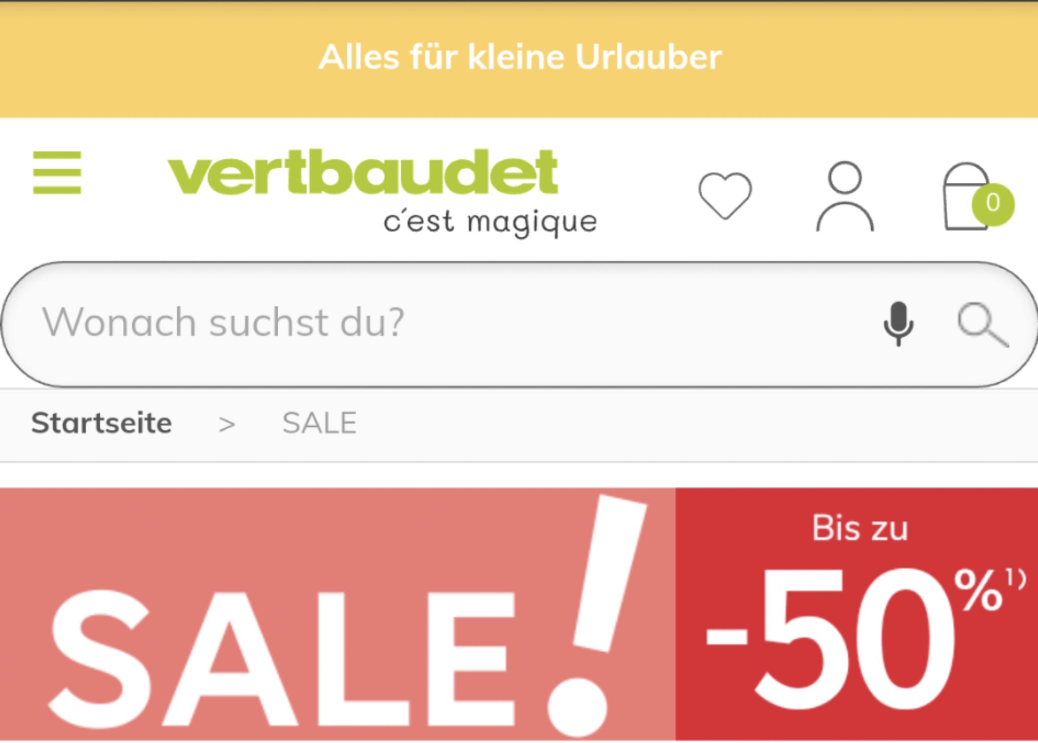 Sale bei Vertbaudet bis zu 50% + 15€ Rabatt ab 50€