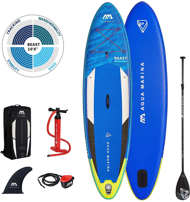 [ Hervis Sports ] Aqua Marina Beast 10'6 ( 2021 ) / Stand Up Paddle Board im Set / 320 x 81 x 15 cm