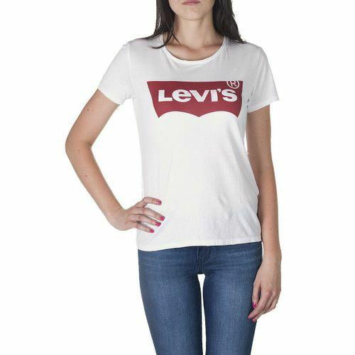 Levi's® T-Shirt Weiß Damen - The Perfect Tee - New Batwin Graphic Logo