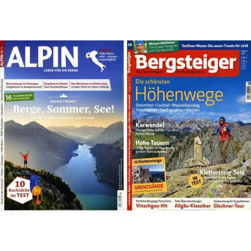 Alpin Abo für 67,20 € mit 60 € Verrechnungsscheck | Bergsteiger Abo für 76,80 € mit 55 € Verrechnungsscheck