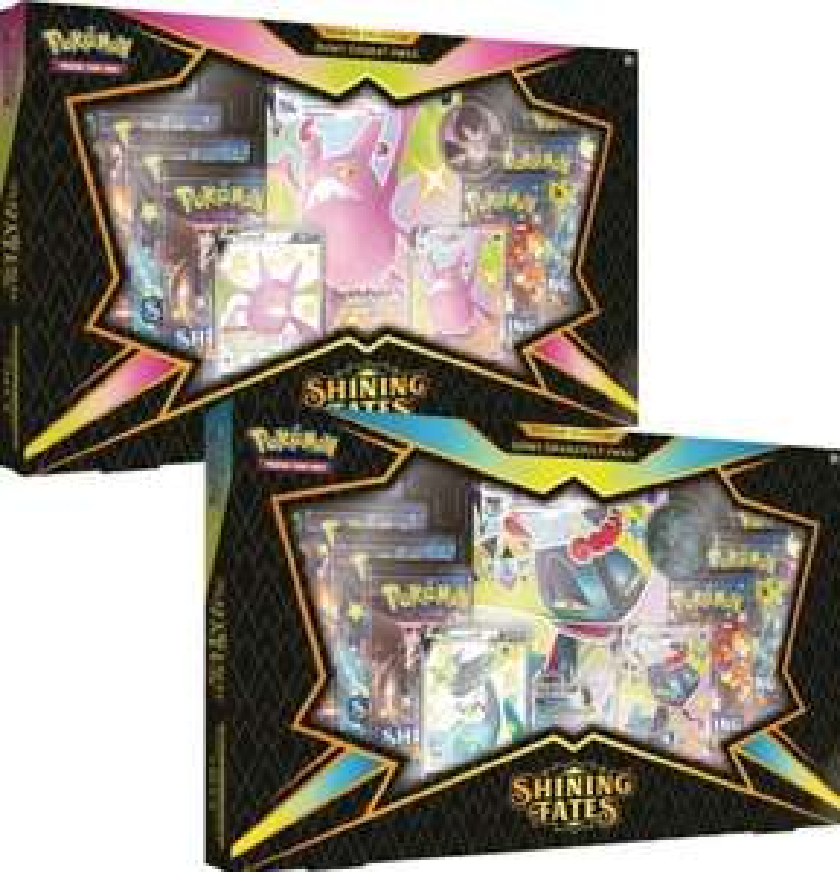 Pokemon Shining Fates Premium Collection - Zufällige Auswahl - Shiny Crobat oder Shiny Dragapult (Prime)
