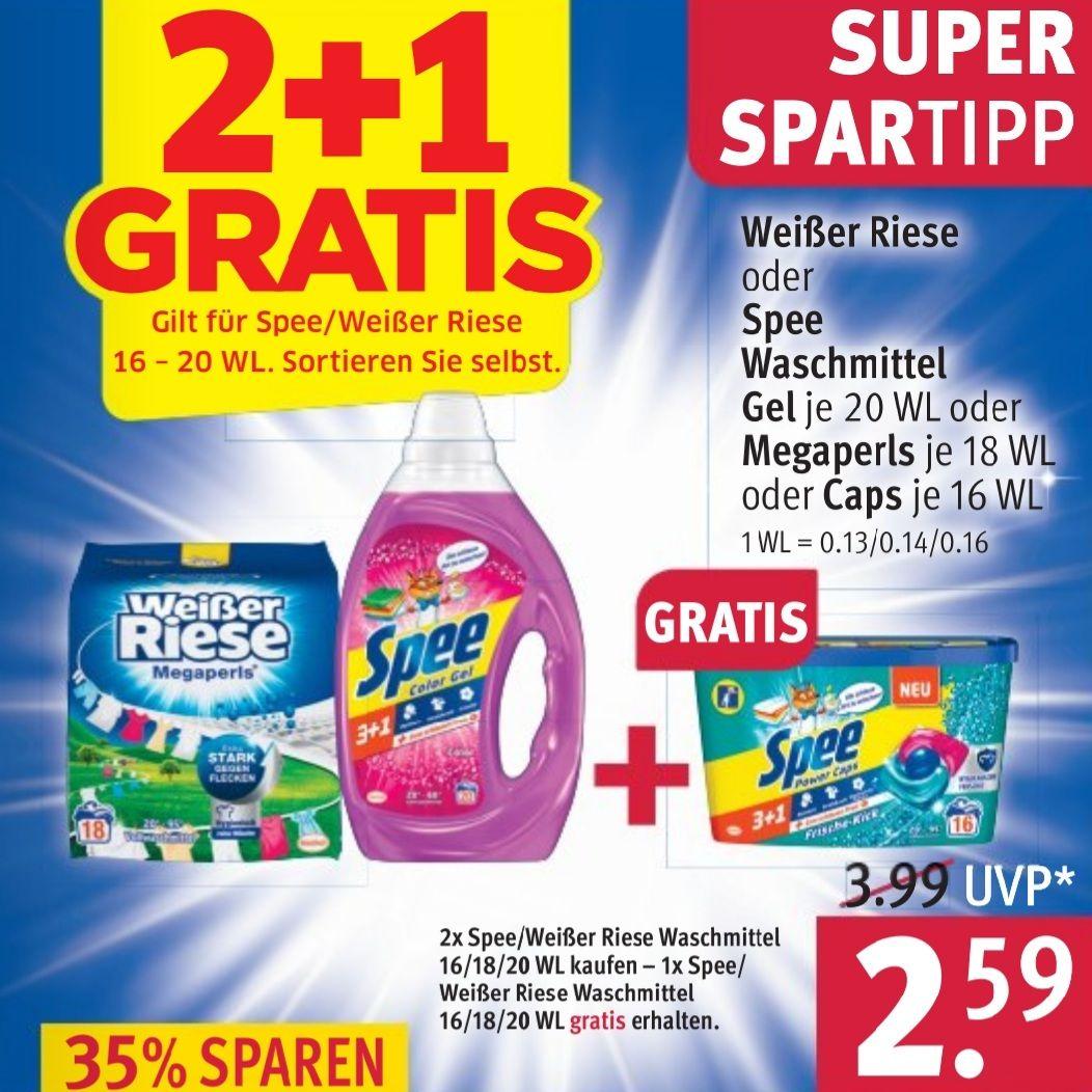 3x Spee/Weißer Riese für insgesamt 4,15€ [Rossmann]