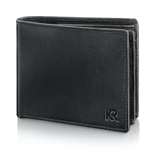 [Amazon prime] KRONIFY Herren Geldbörse, Rindsleder mit RFID-Schutz (TÜV geprüft) in Geschenkbox für 17,99