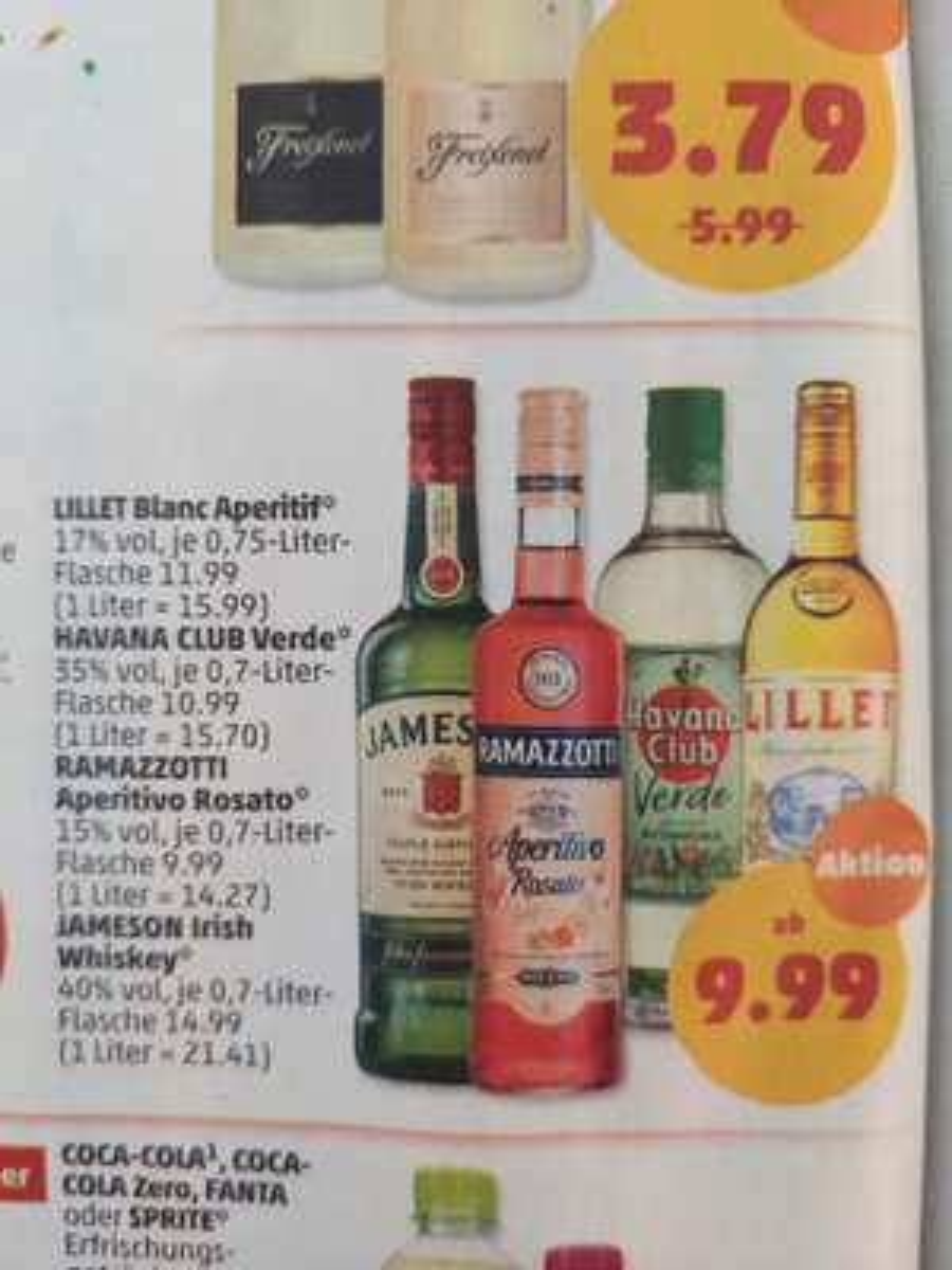 PENNY verschiedene Spirituosen ab 9,99€, z.B. RAMAZZOTTI Aperitivo Rosato 0,7-Liter