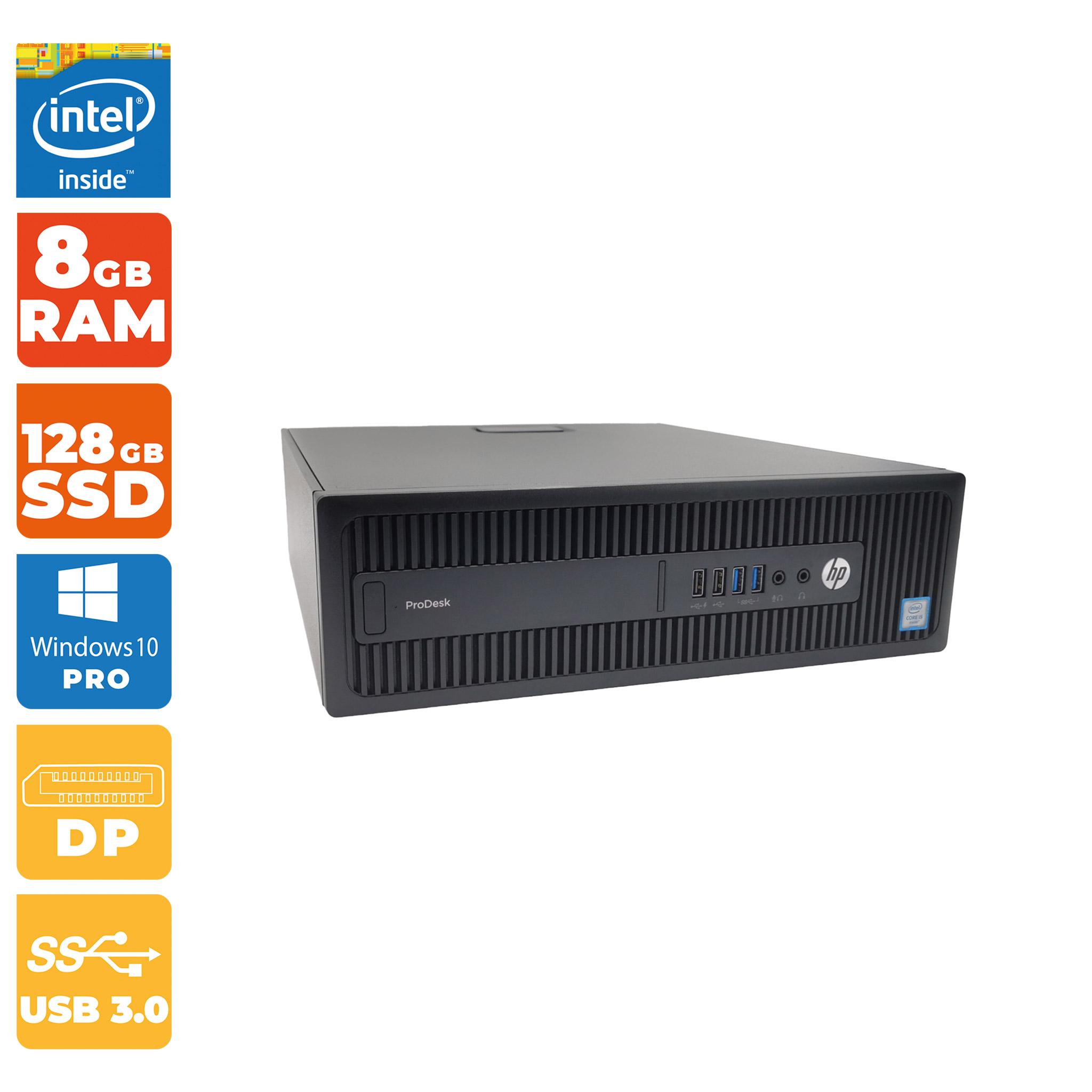 [Grade A-] HP ProDesk 600 G2 ( SFF PC, Intel i5- 6.Gen, 8GB RAM DDR4, 128GB SSD, Windows 10 Pro, Intel HD Graphics 530, 2x DisplayPort )