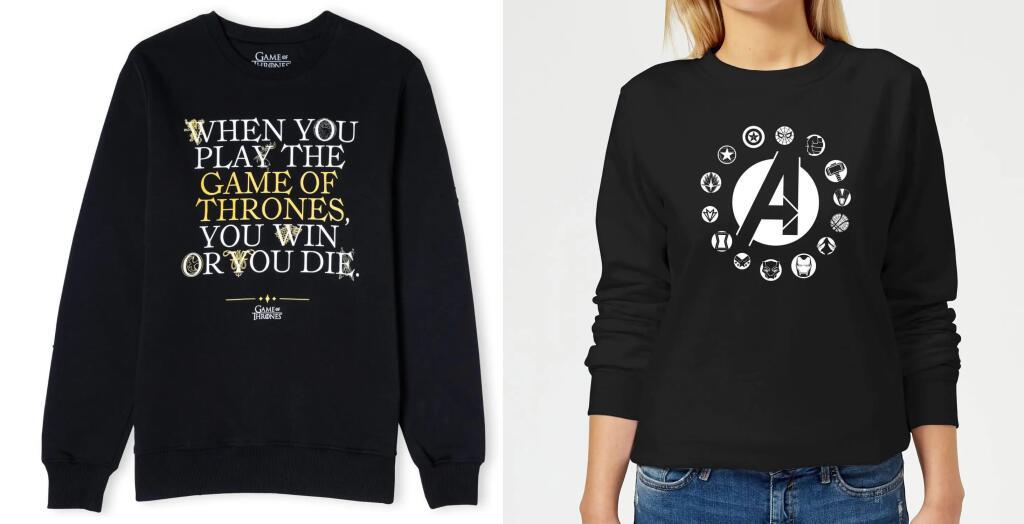 2 Sweatshirts (Gr. S - XXL) vieler verschiedener Franchises (Disney, DC, Marvel, Nintendo uvm.) für 26,99€ oder 3 für 36,99€ zzgl. Versand
