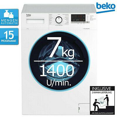 Beko Waschmaschine WML71433EDR1 Inverter-Motor 7kg Fassungsvermögen 1400 U/min. Schontrommel Mengenautomatik 15 Programme