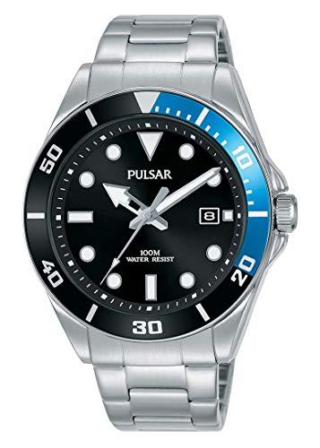 PG8293X1 - Pulsar (Seiko) 41,6mm Herrenarmbanduhr mit Metallarmband