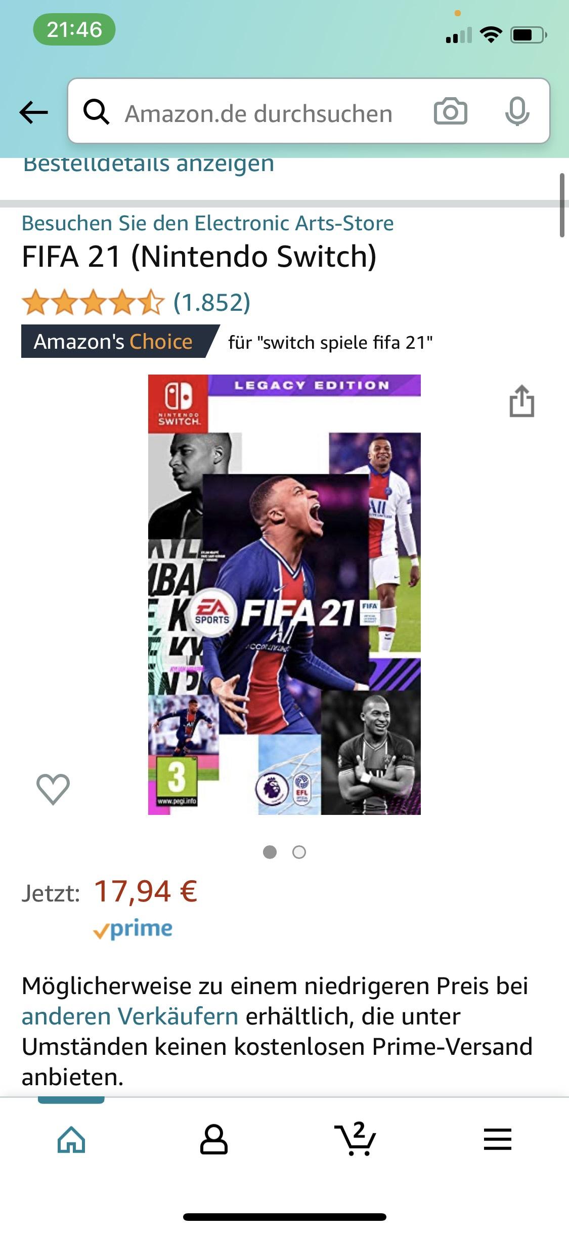 Fifa 21 Legacy Edition (Nintendo Switch) AMAZON PRIME