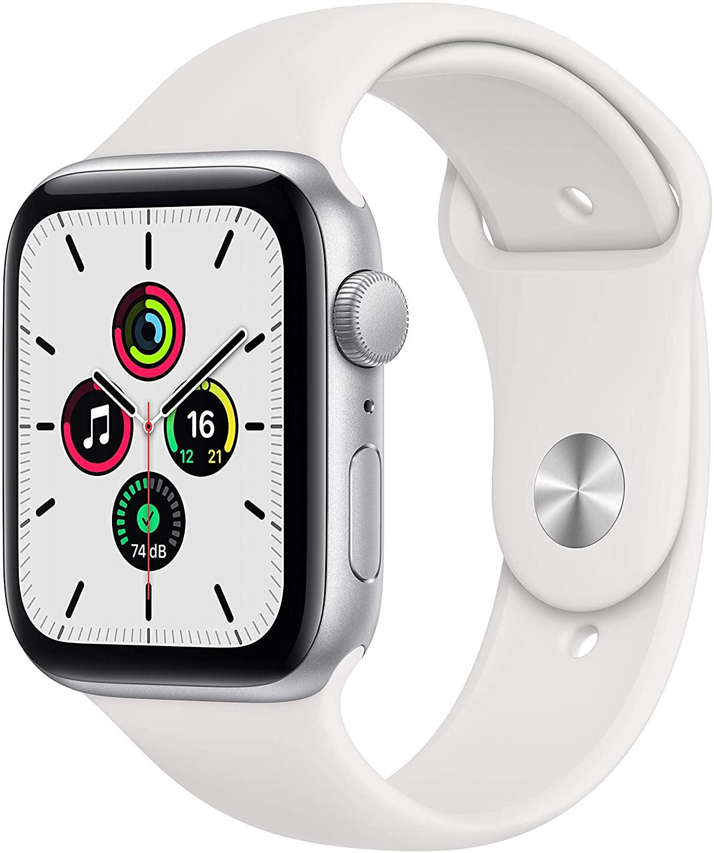 Apple Watch SE 44 mm, Aluminium silber, Sportarmband weiß - bei Abholung