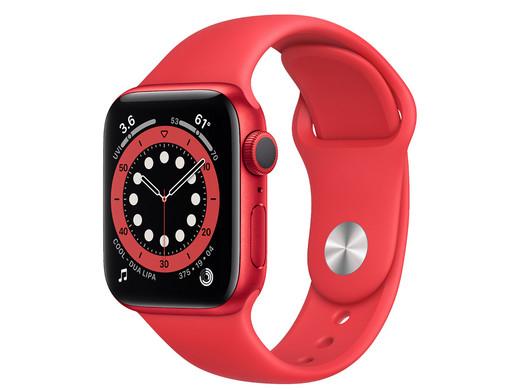 Apple Watch Series 6 (40 mm, GPS, Retina Display, Sportarmband, Messung von Sauerstoffgehalt im Blut, EKG-App)