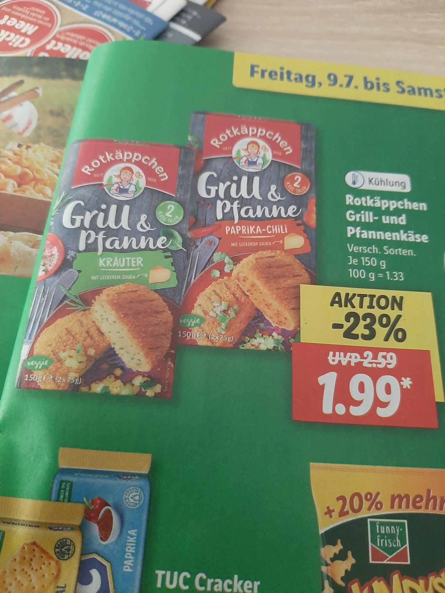 Rotkäppchen Grill und Pfannenkäse nur 1.49€ Dank Scondoo Cashback App.