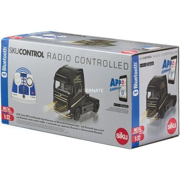 SIKUCONTROL32 Volvo FH16 4x2 mit Bluetooth App-Steuerung und Bluetooth-Fernsteuermodul, RC(schwarz, 1:32)