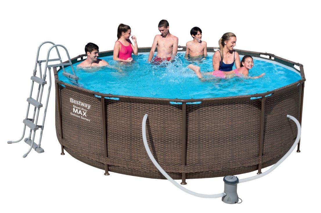 Bestway Steel Pro Pool Set 366x100 Rattan 56709 Frame-Pool